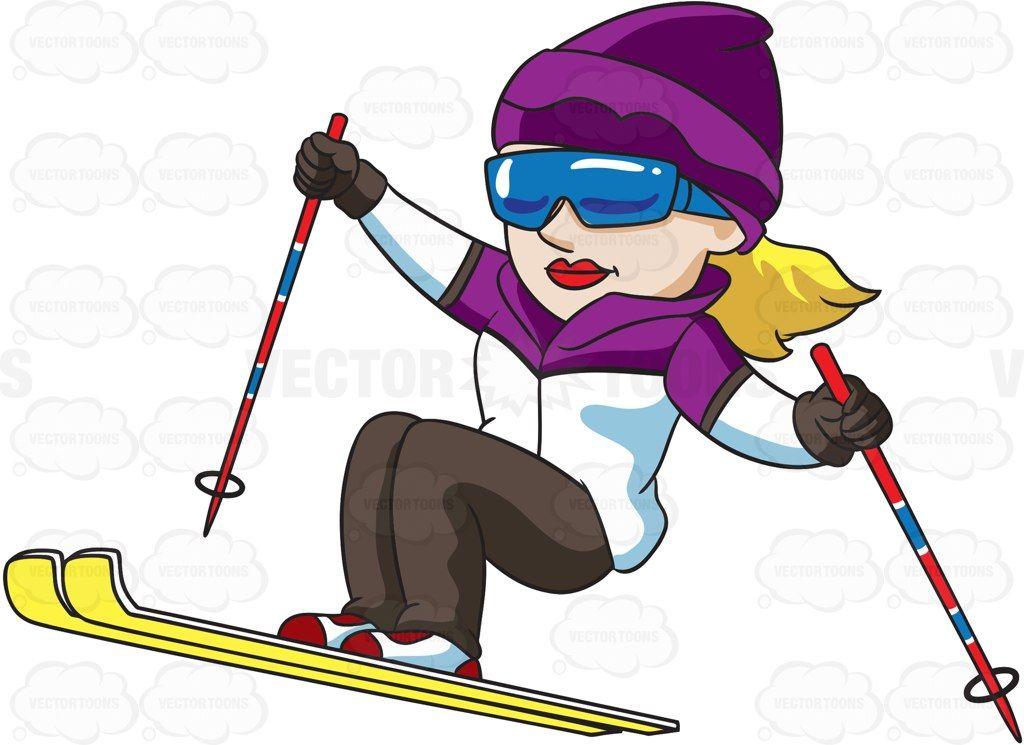 skiing clipart female skier
