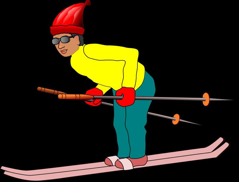 Man medium image png. Skis clipart ski club