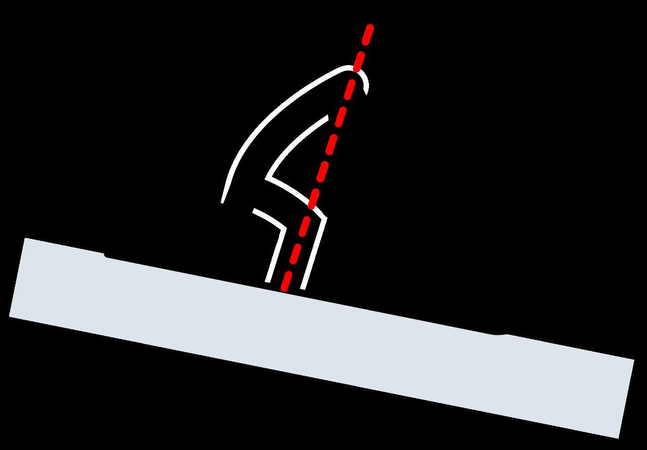 Skis clipart ski jump. File telemark skiing position