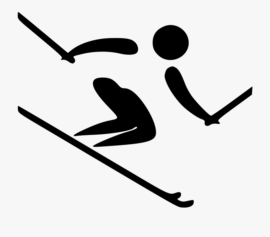 Picture transparent stock skier. Skis clipart ski hill