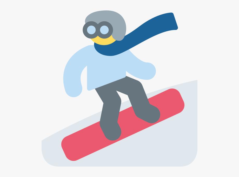 Skiing emoji free . Skis clipart ski snowboard
