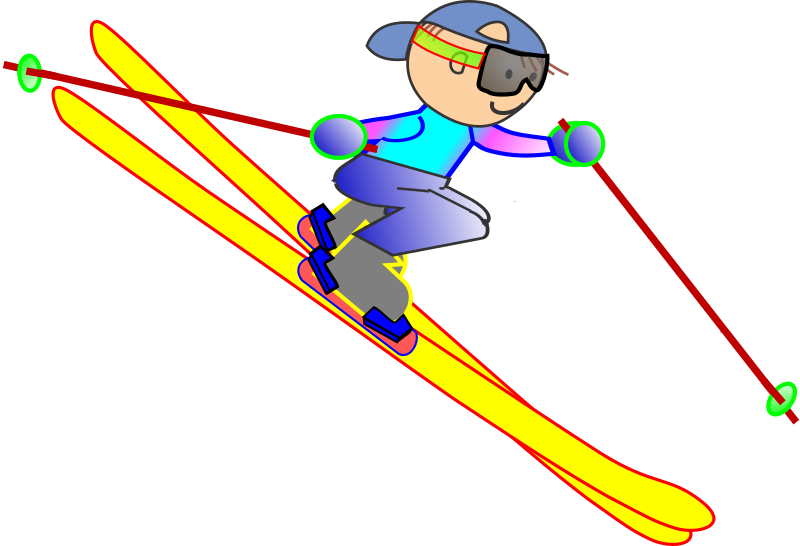 Skiing clipart skiing nordic. Funny guy medium image