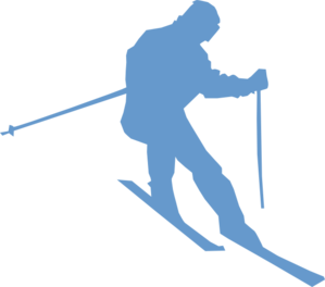 Skis clipart skiing person. Ski clip art at