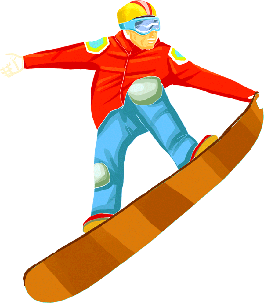 Water skiing snowboard surfing. Skis clipart snowboarding