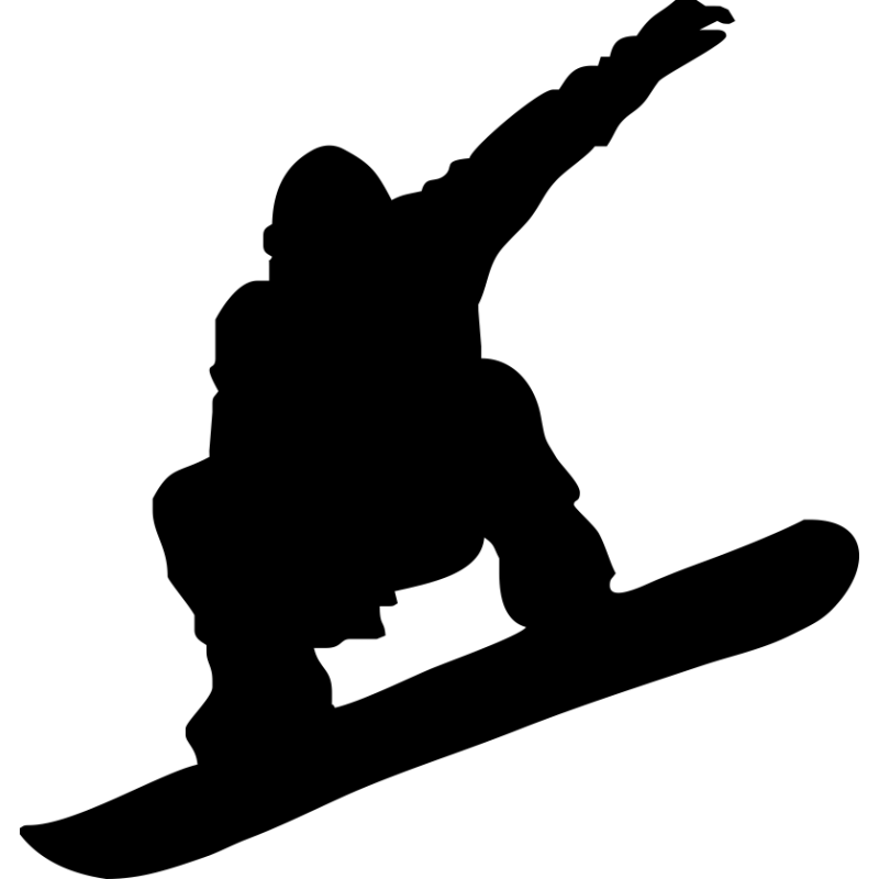 Skiing silhouette clip art. Skis clipart snowboarding