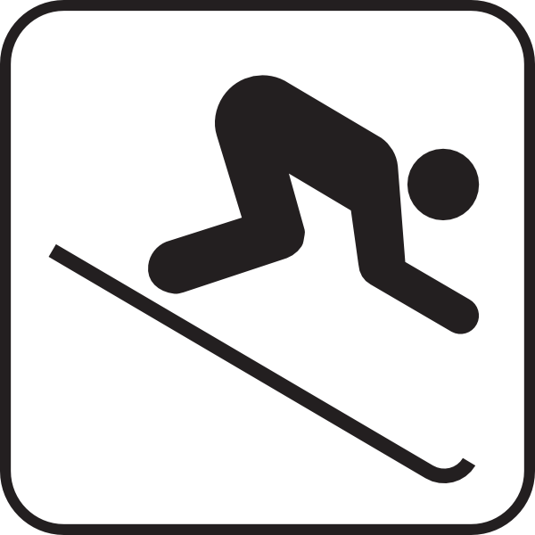 Skiing map sign clip. Skis clipart ice