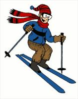 Skiing clipart. Free graphics images and