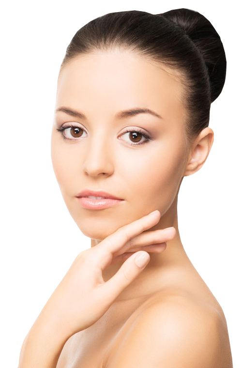 Skin clipart beautiful skin. Portfolio designshop girl touching