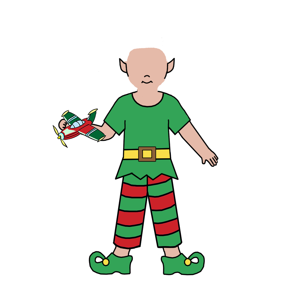 Skin clipart boy. Christmas elf fill in