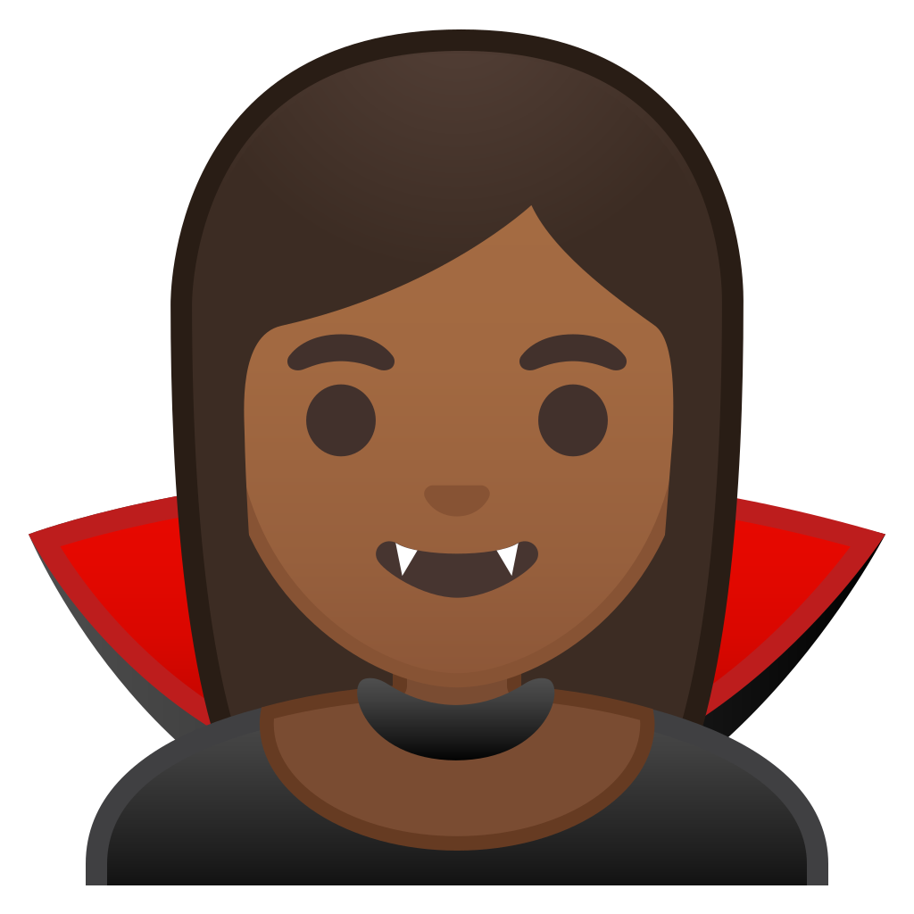 Woman vampire medium dark. Skin clipart brown skin