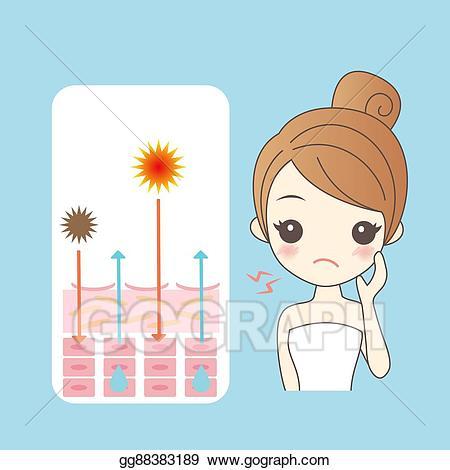 Skin clipart cartoon. Vector stock woman with