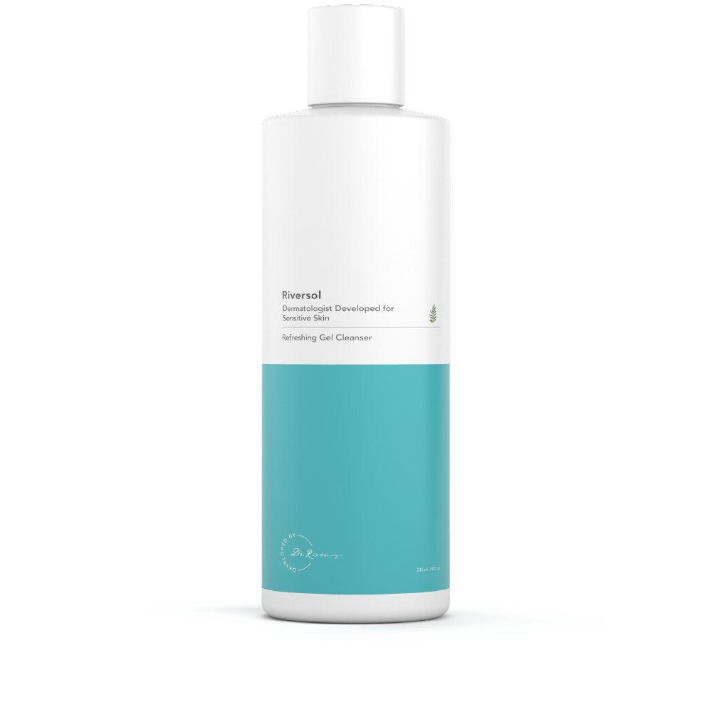 Skin clipart cleansing. Refreshing gel cleanser riversol