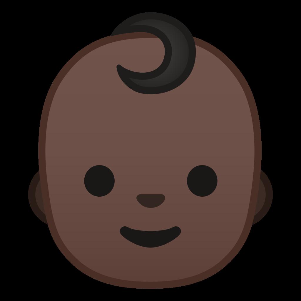 Baby dark tone icon. Skin clipart different skin color