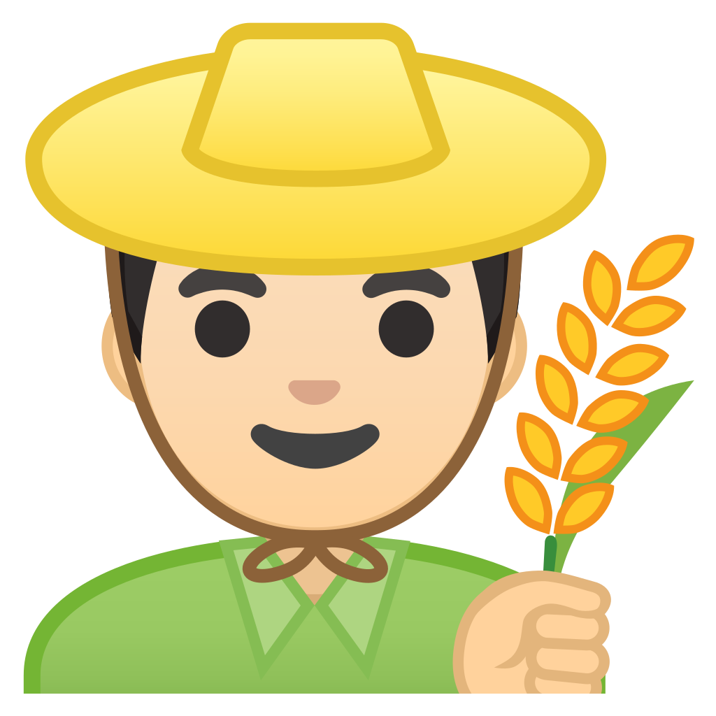 Man farmer light tone. Skin clipart different skin color