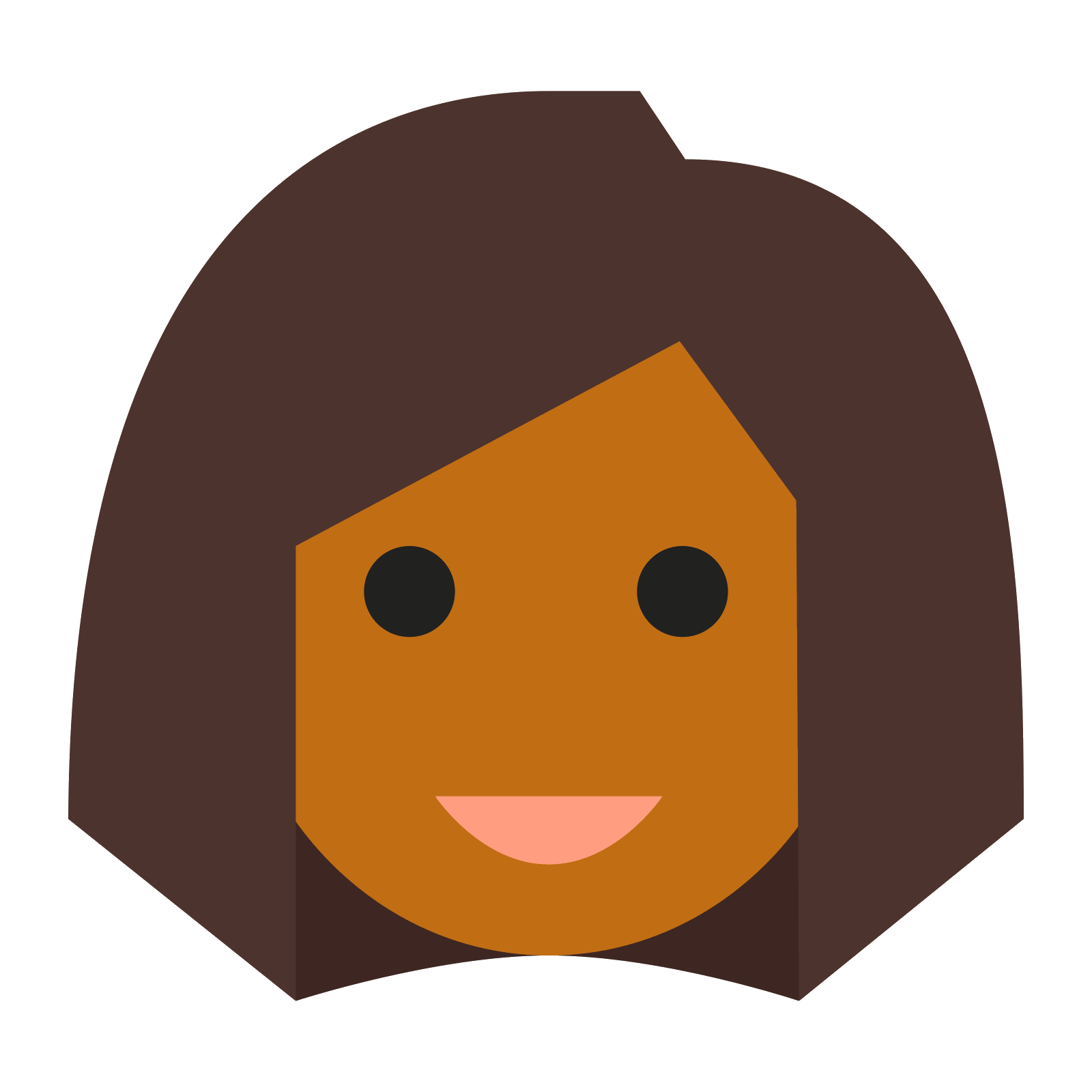 black female png. Skin clipart different skin color