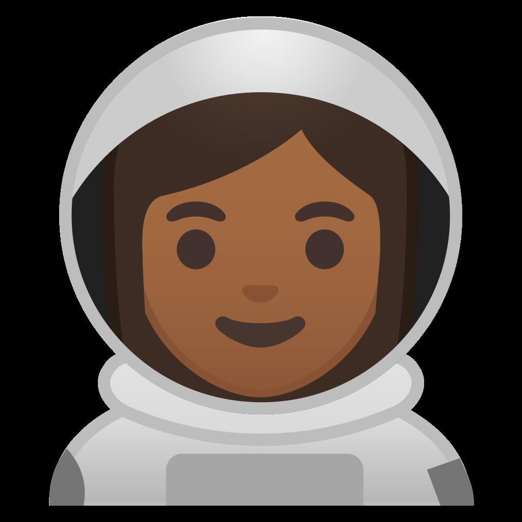 Skin clipart different skin color. Woman astronaut medium dark