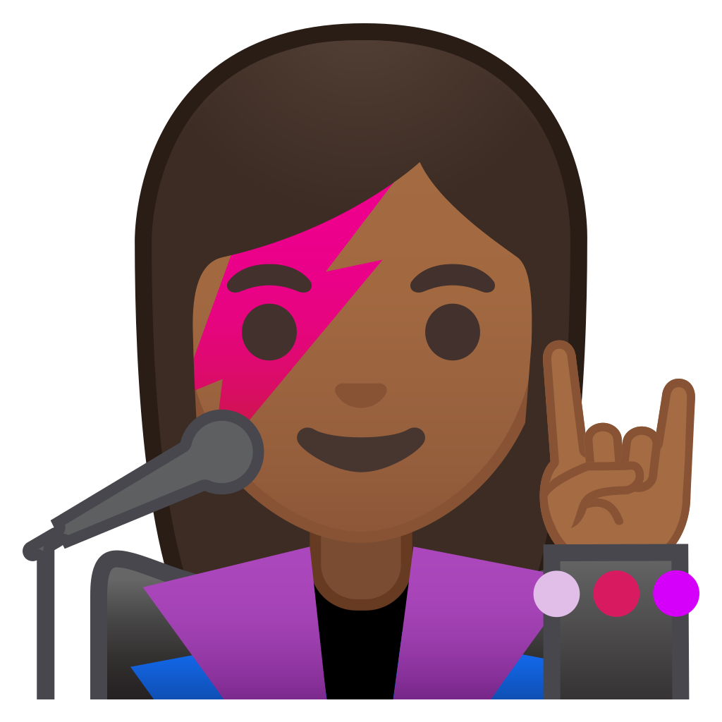 Woman singer medium dark. Skin clipart different skin color
