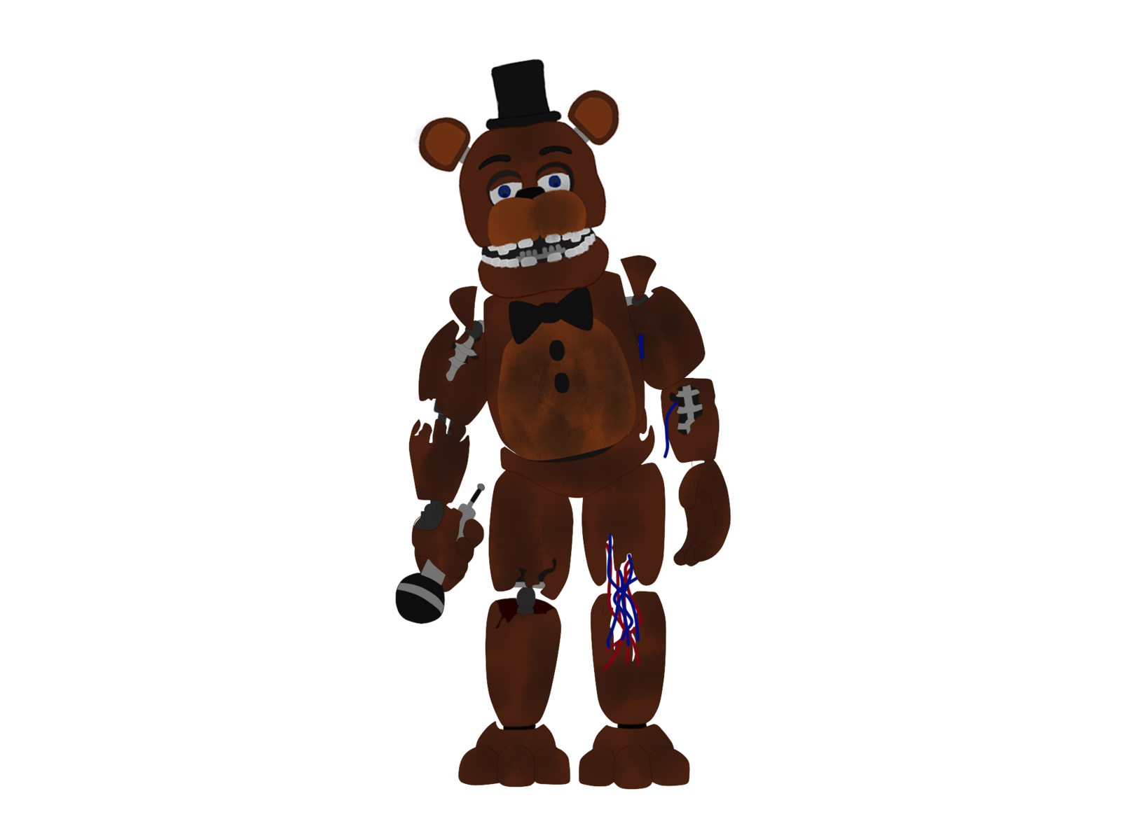 Skin clipart full body. Withered freddy fnaf by