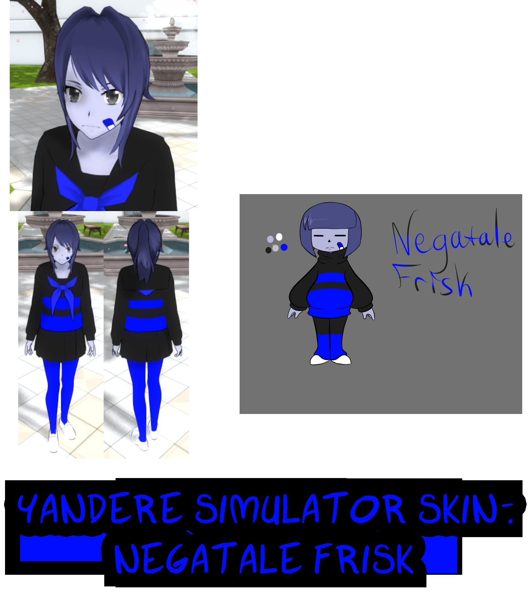 Yandere simulator negatale frisk. Skin clipart my body