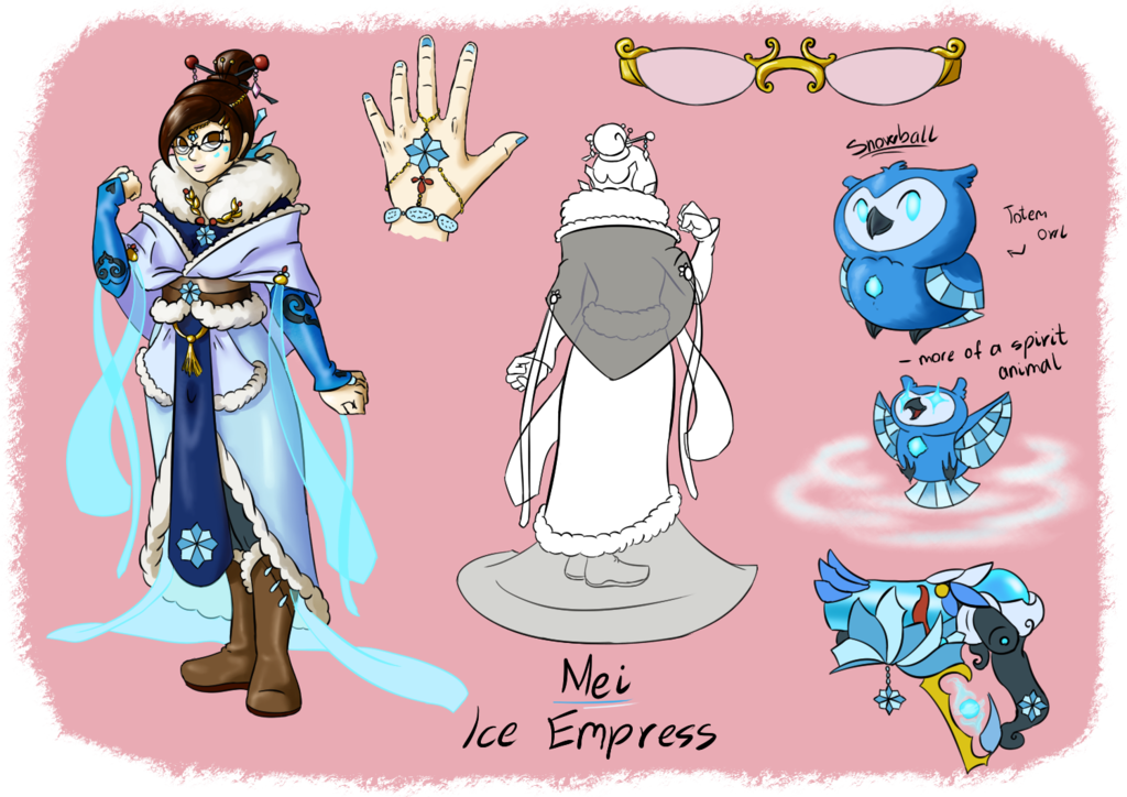 Ow mei ice empress. Skin clipart opened hand