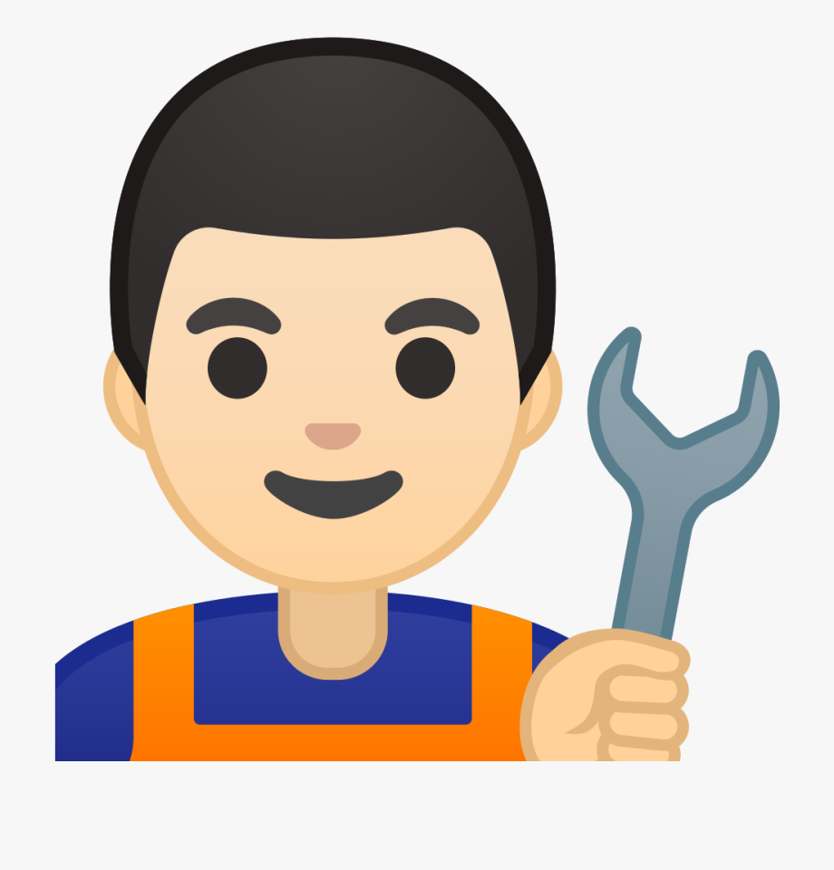 Skin clipart person. Man mechanic light tone