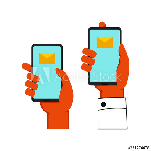 Set one holding gadget. Skin clipart single hand