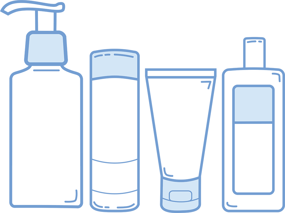 collection of transparent. Skin clipart skin cream