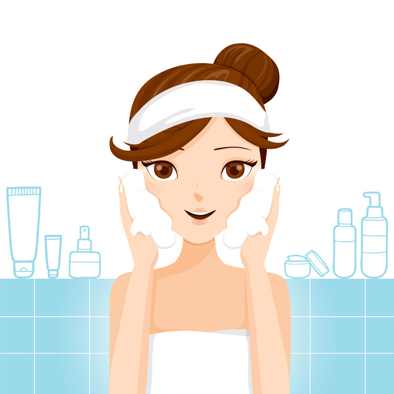 Skin clipart skin health. Glowing developing a healthy
