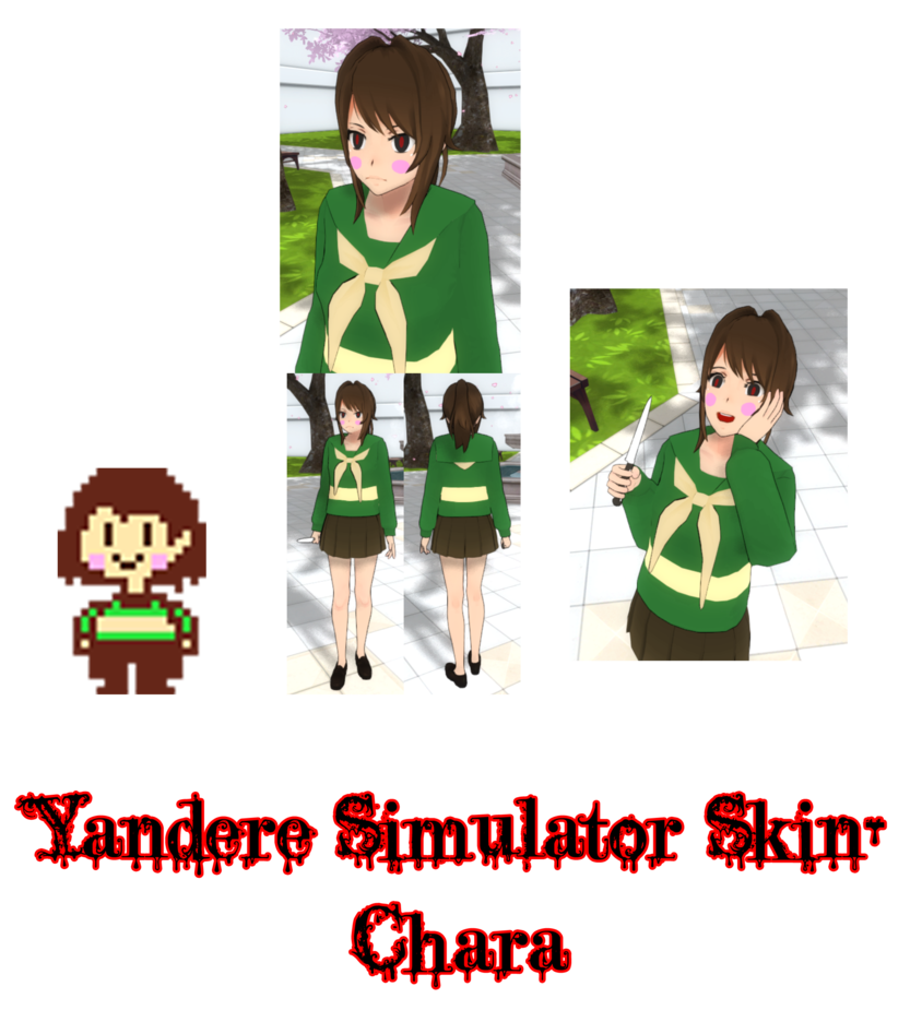 Yandere simulator chara by. Skin clipart skin problem