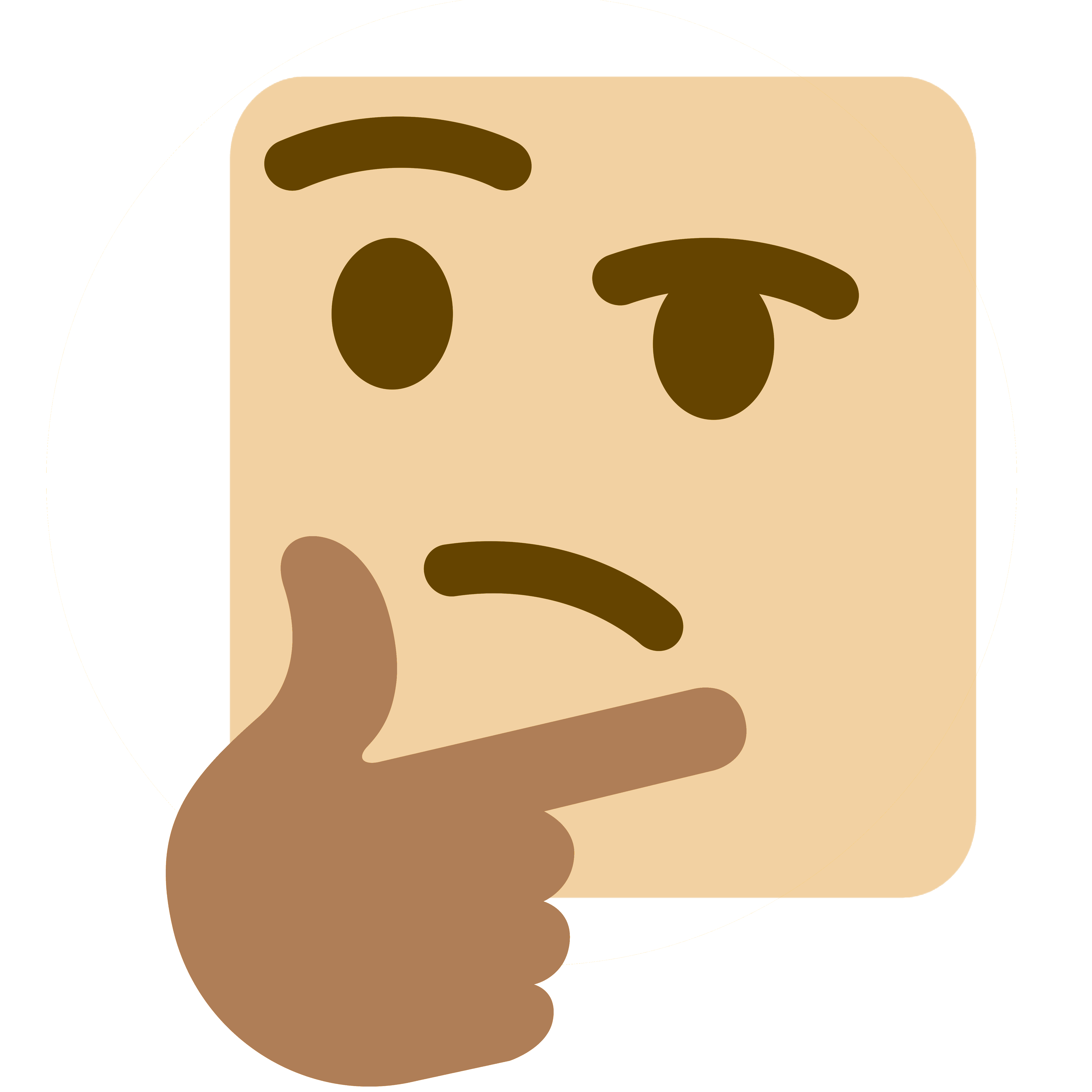 Skin clipart skin tone. Skintonethink discord emoji q