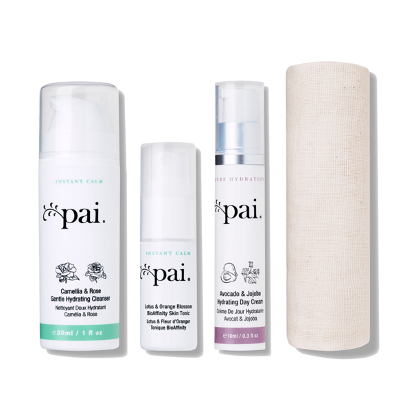Pure hydration travel kit. Skin clipart skincare