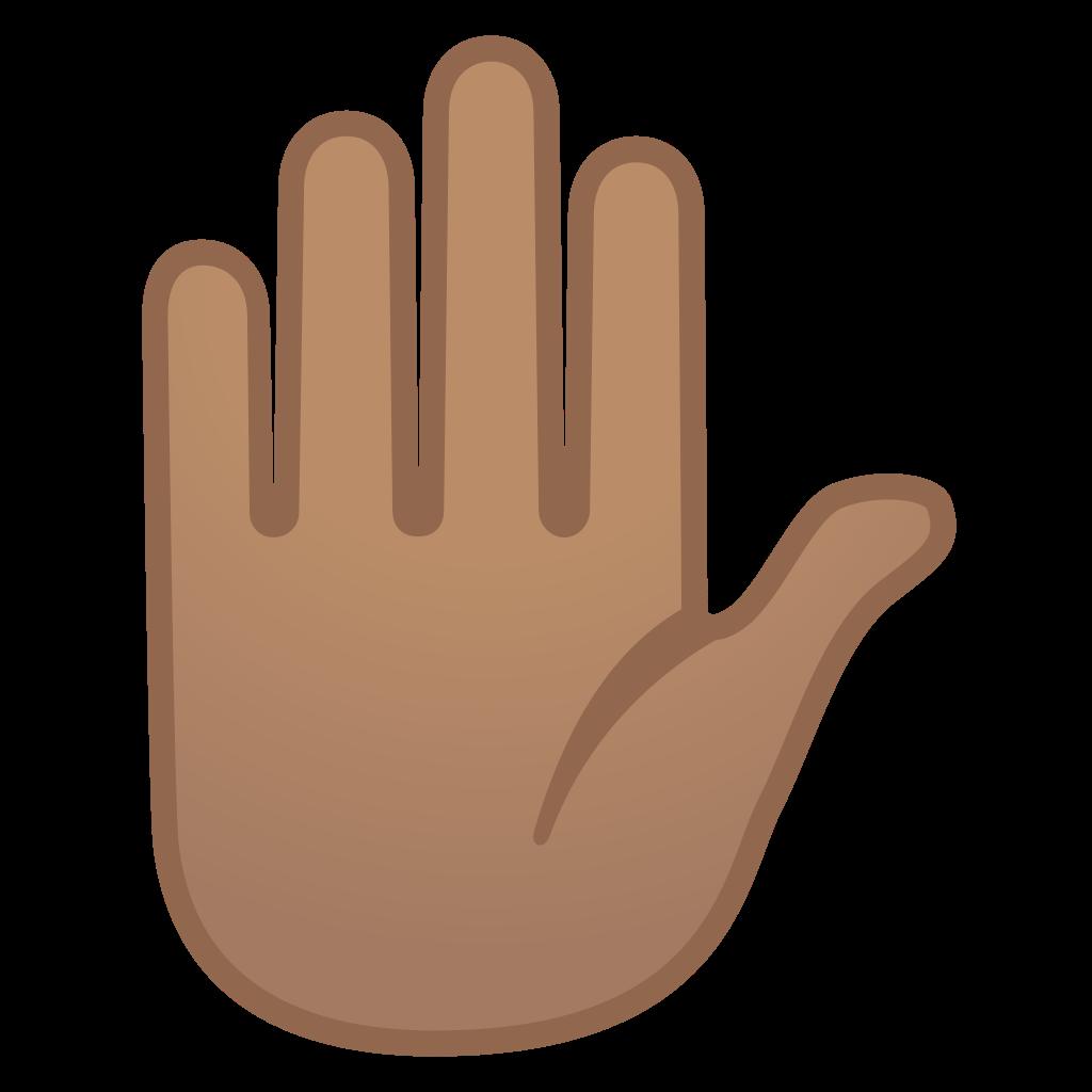 Raised hand medium tone. Skin clipart tan skin