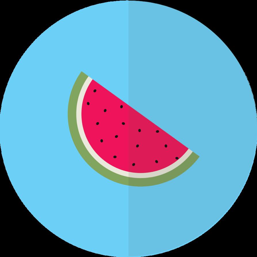Skin clipart watermelon. Flat design by blenderednelb