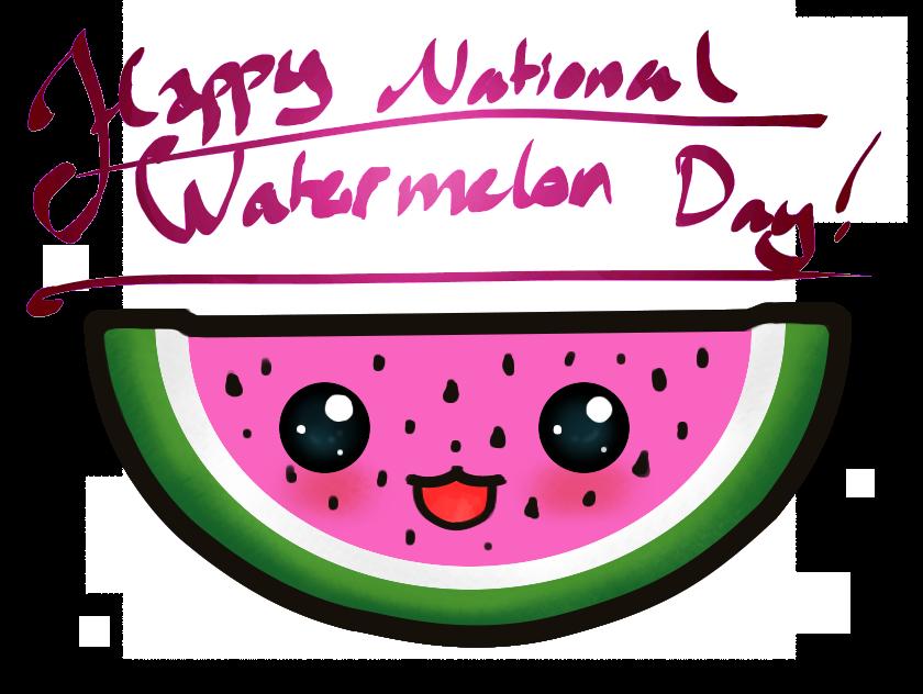 Watermelon clipart happy cartoon. Day by z moo