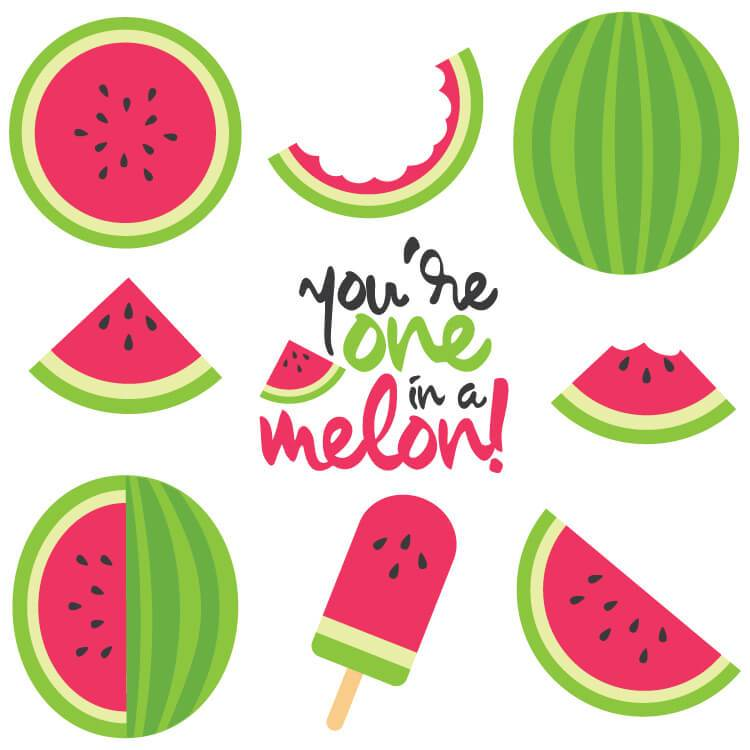 Cut files clip art. Watermelon clipart watermelon rind