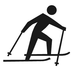 Free cross country skiing. Skis clipart
