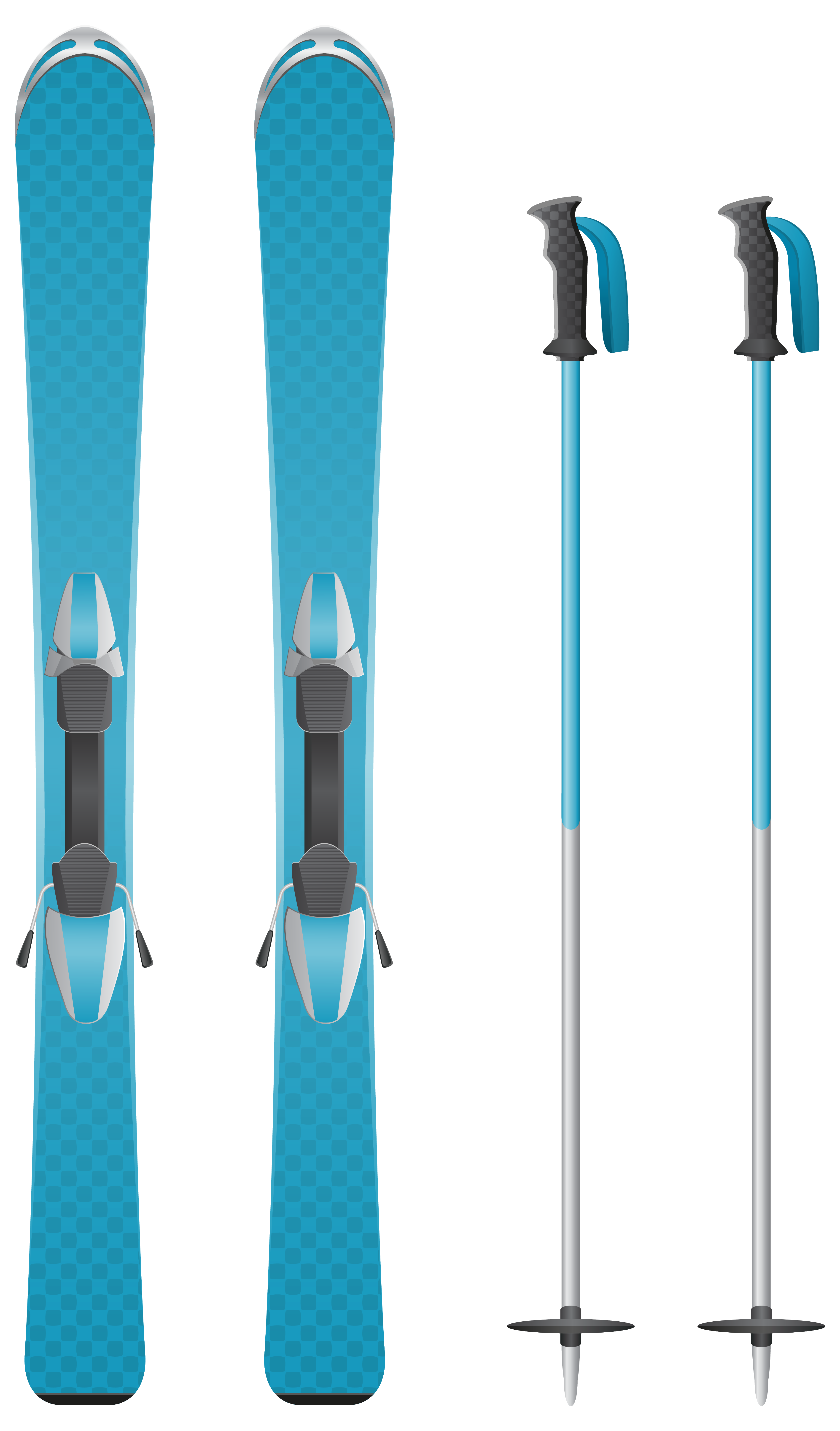 Skis clipart. Blue png image gallery