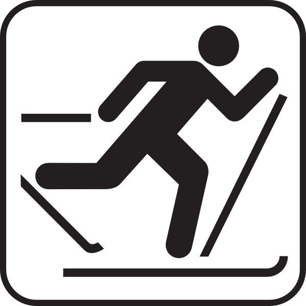 Skis clipart ice. Skiing map sign clip