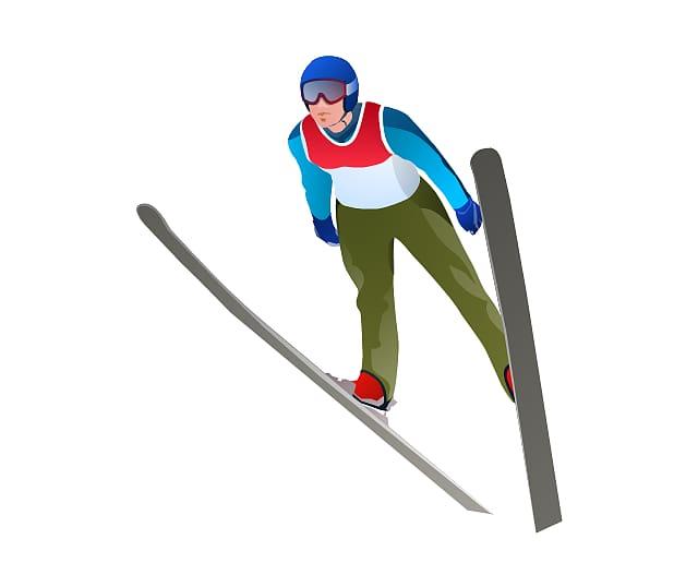 winter olympics sport. Skis clipart ski jump