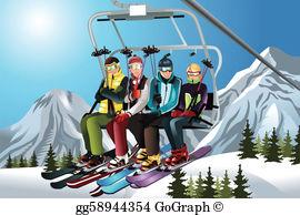 Ski clip art royalty. Skis clipart skiing holiday