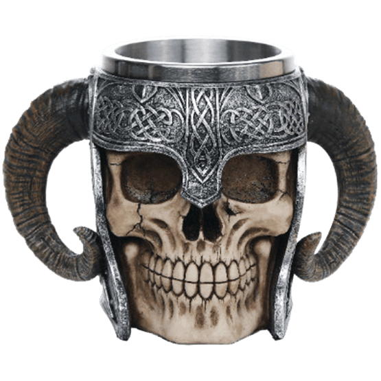 Viking warrior mug cc. Skull helmet png