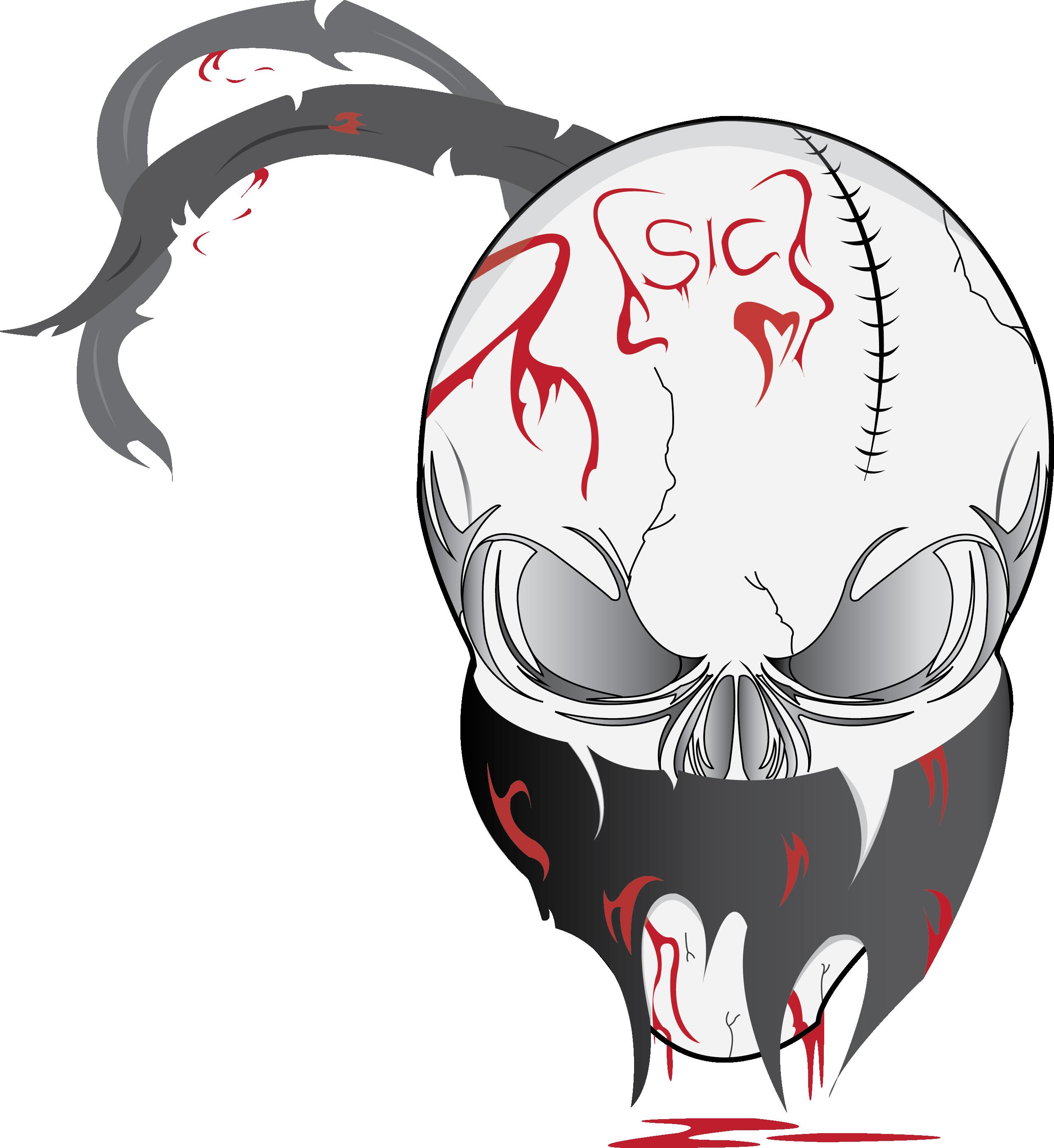 Sic slipknot . Skull vector png
