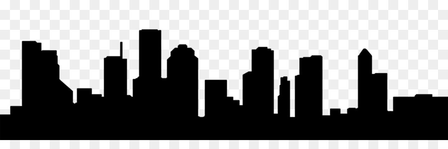 City silhouette drawing text. Skyline clipart