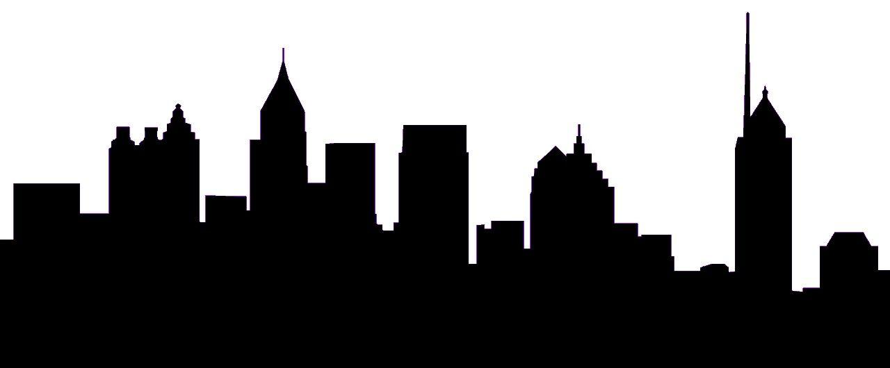 Atlanta silhouette clip art. Skyline clipart
