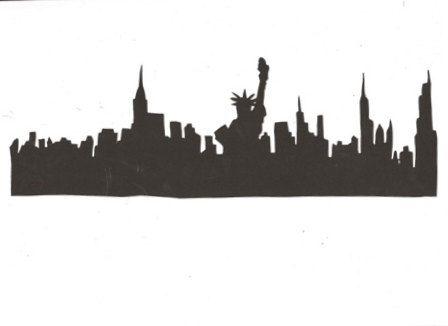Skyline clipart border. New york city outline