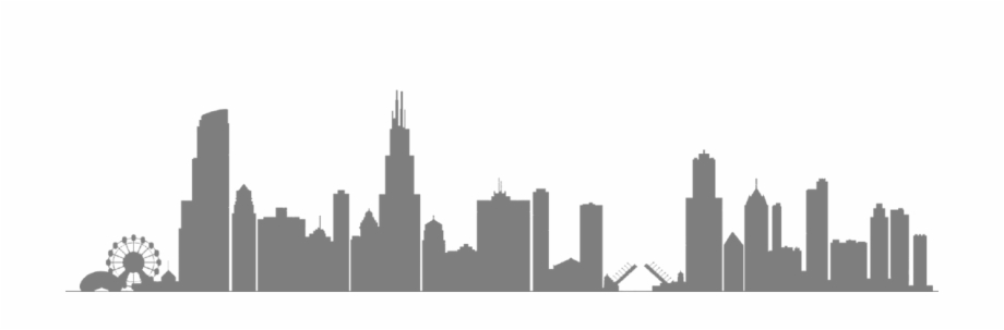 Skyline clipart chicago downtown. Free silhouette clip art