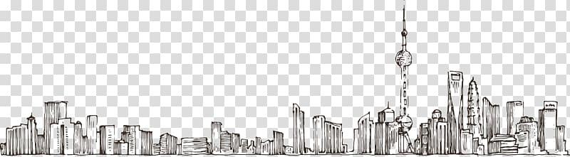 Illustration drawing google view. Skyline clipart street city