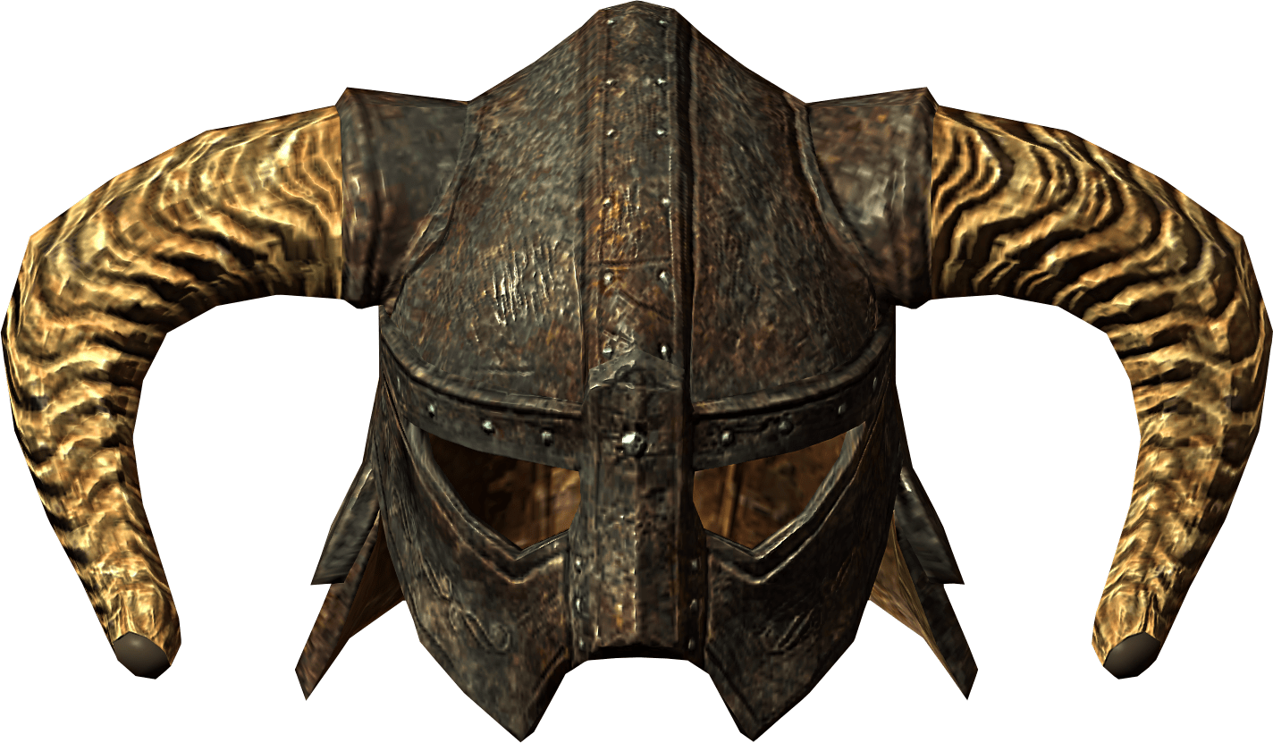 Elder scrolls close up. Skyrim helmet png