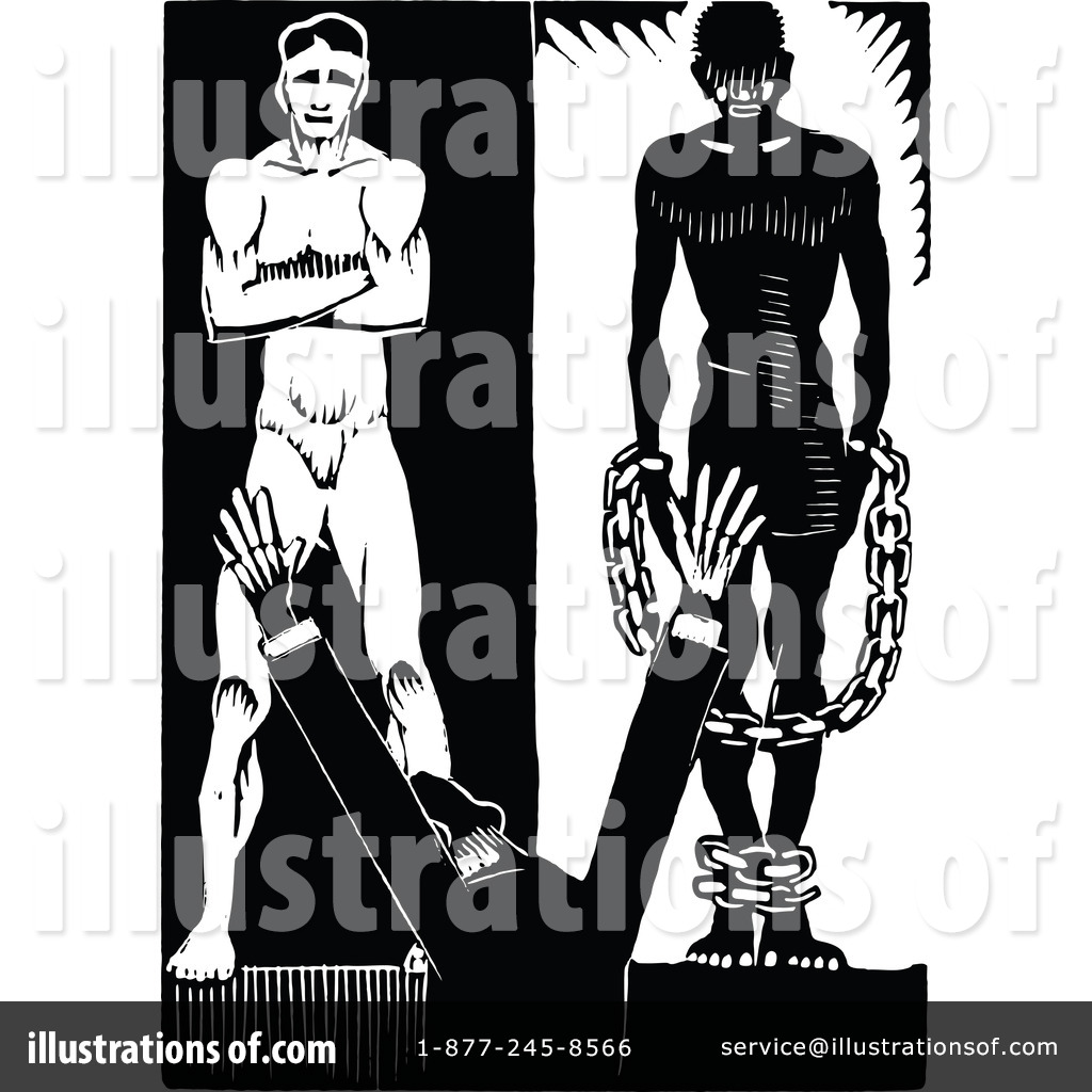 Slavery clipart. Illustration by prawny vintage
