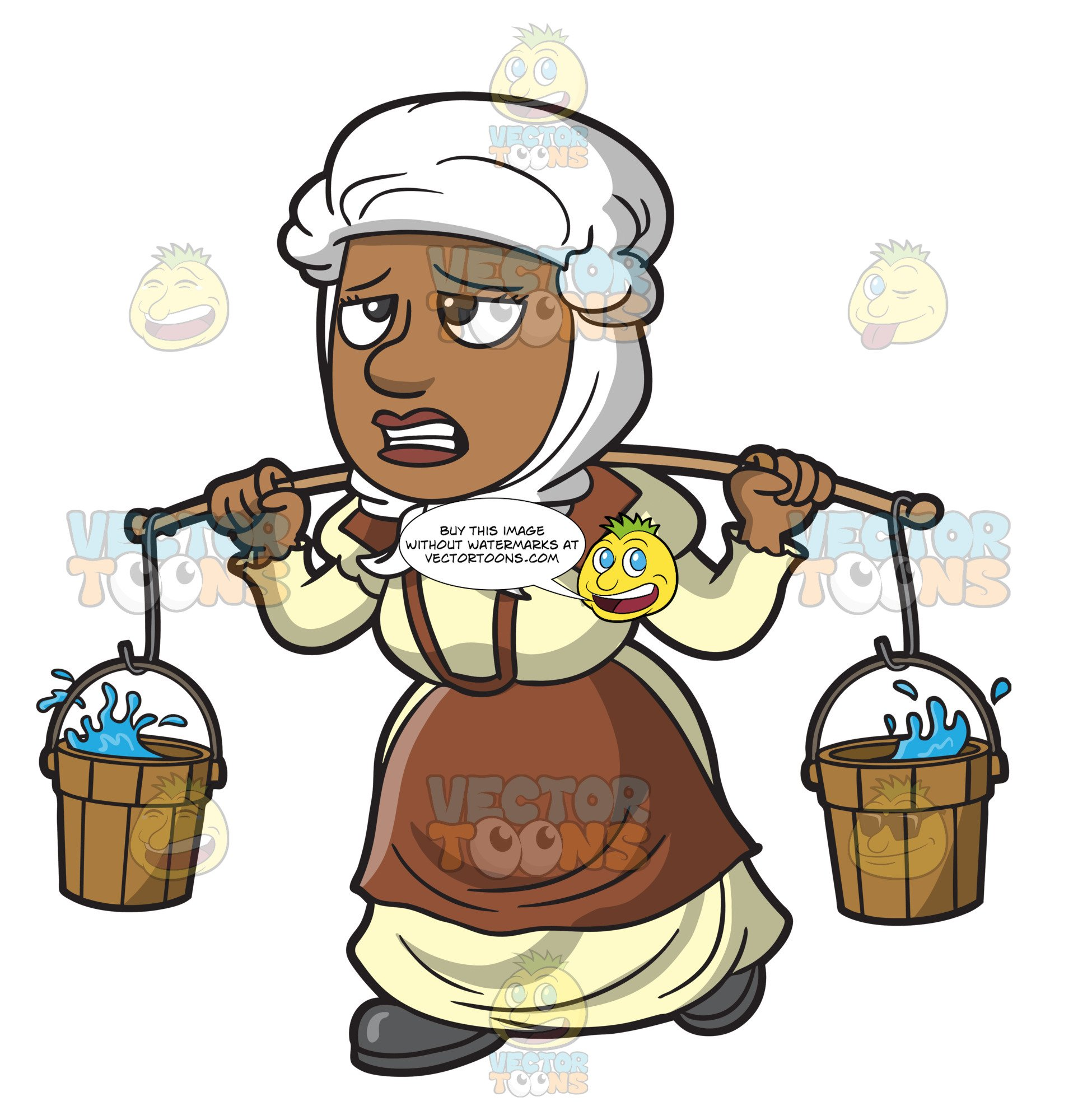 Slavery clipart animation. A female polynesian slave